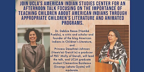 American Indians in Children's literature and animated programs tickets
