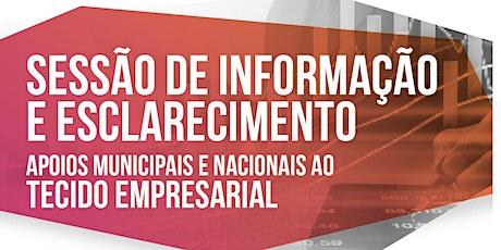Sessão |Apoios Municipais e Nacionais ao Tecido Empresarial de Ponte de Sor bilhetes