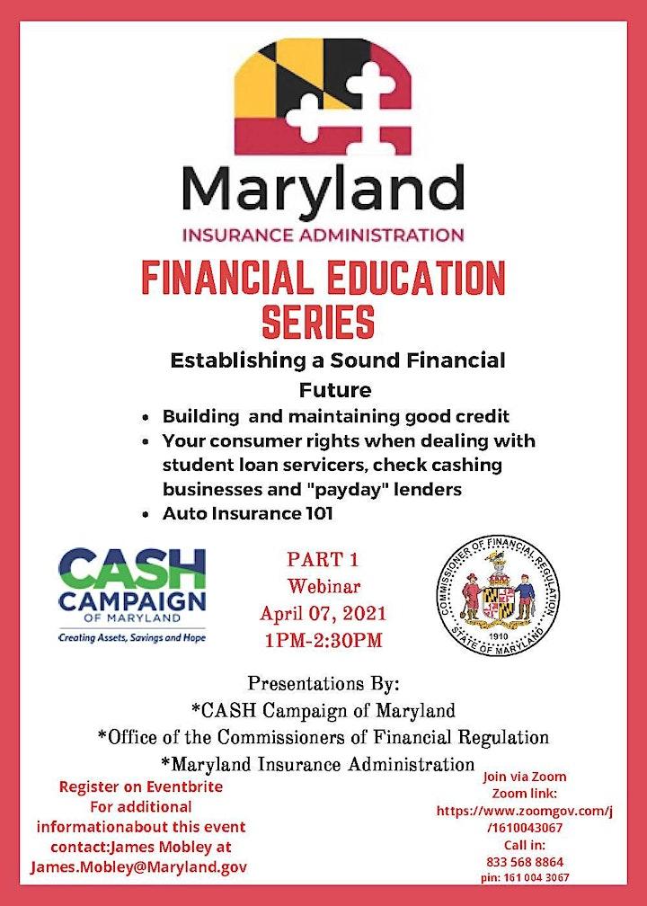 Maryland Insurance Financial Education Series image