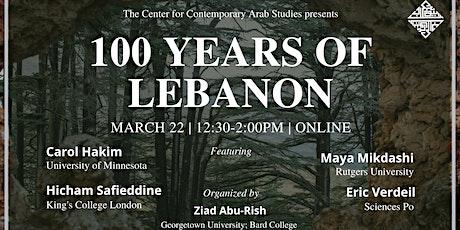 100 Years of Lebanon tickets