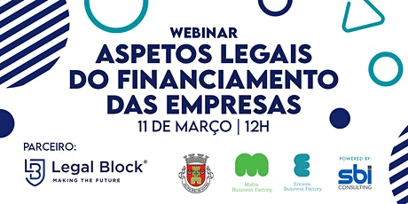 Webinar: Aspetos legais do financiamento das empresas bilhetes