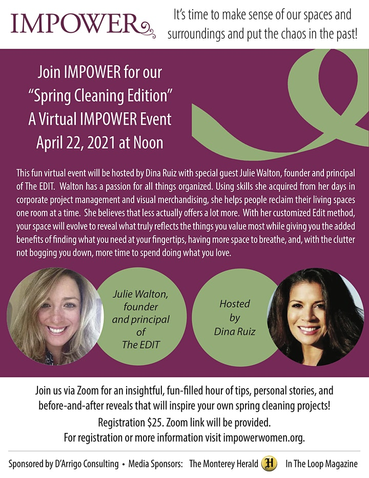 Virtual Impower Women Luncheon: Spring Cleaning Edition image