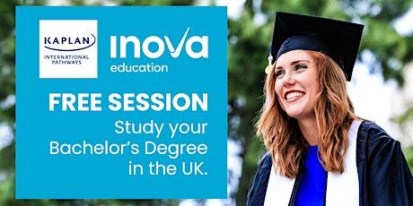 Estudia tu carrera/pregrado en el Reino Unido con Kaplan tickets