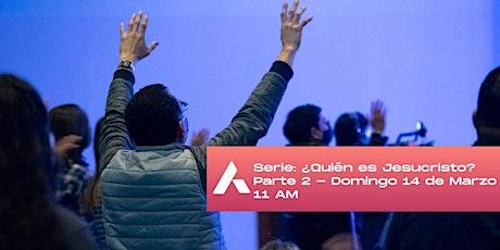 Reunión de domingo. Serie: ¿Quién es Jesucristo? entradas