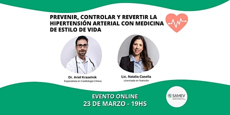 Prevenir, controlar y revertir la hipertensión arterial con SAMEV boletos