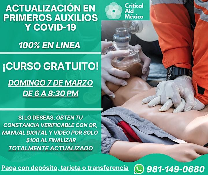 Imagen de CURSO GRATUITO - Actualización en Primeros Auxilios y COVID-19