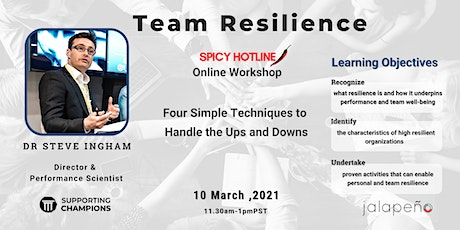 Team Resilience: Four simple techniques to handle the ups and downs tickets