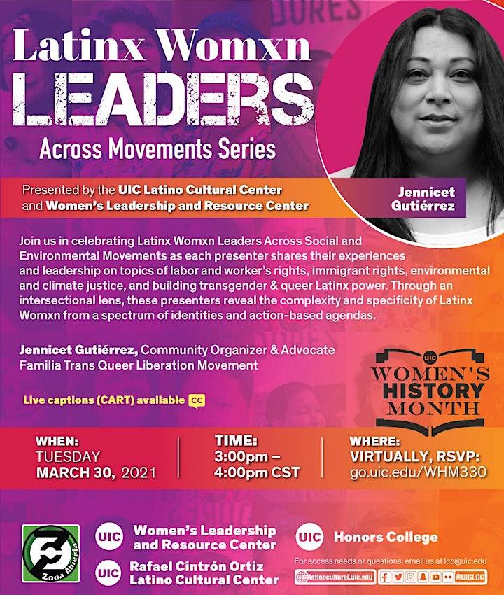 Zona Abierta: Latinx Womxn Leaders Across Movements – Jennicet Gutiérrez image