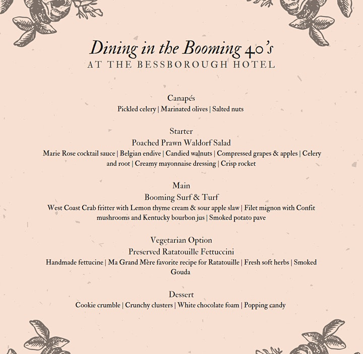 Dining in the Booming 40's at the Bessborough Hotel image