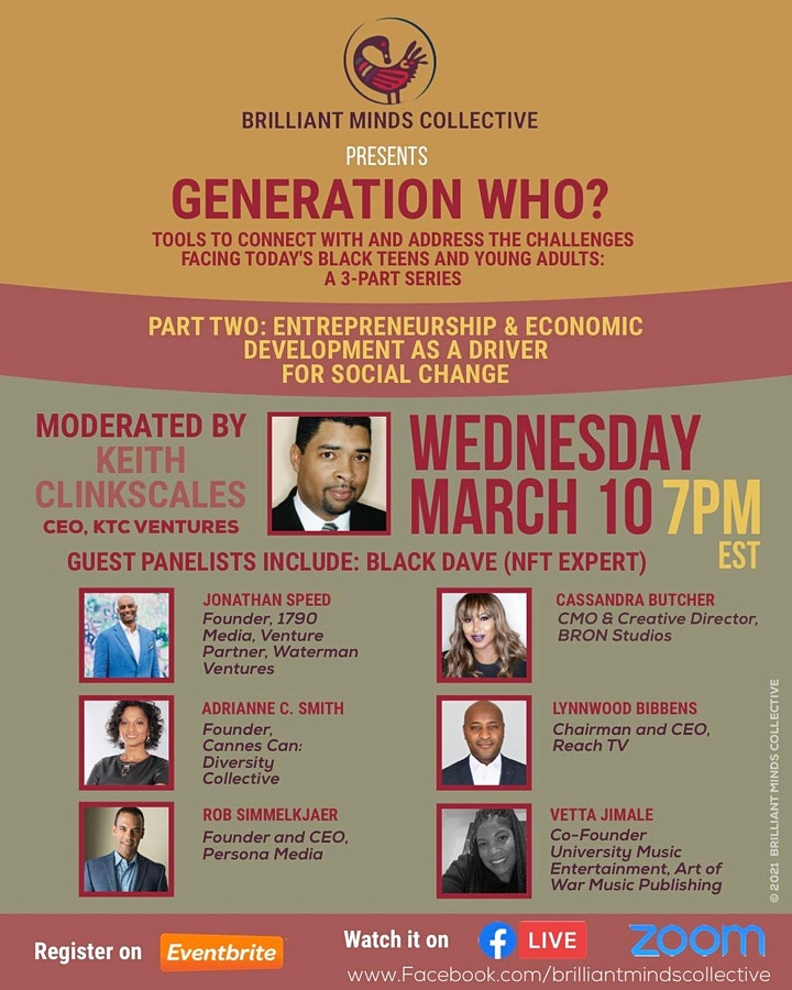 GENERATION WHO? TOOLS TO CONNECT WITH & ADDRESS TODAY'S BLACK YOUTH (PT. 2) image