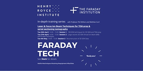 Faraday Tech: Reconstruction of 3D SEM data tickets