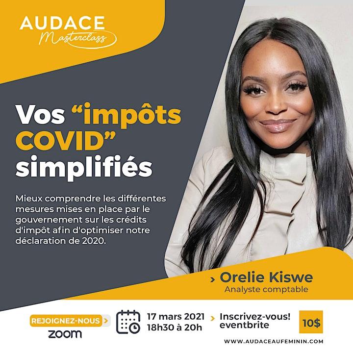 """Image de Audace Masterclass : Vos """"Impôts COVID"""" simplifiés!"""