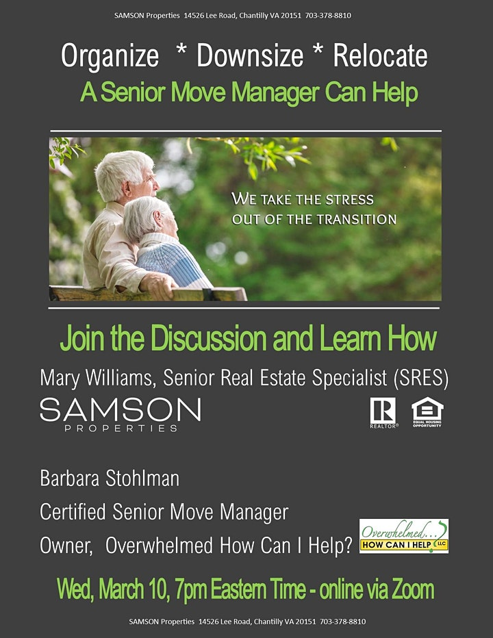 Organize * Downsize * Relocate - A Senior Move Manager Can Help image