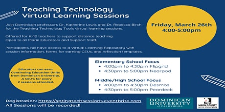 Teaching Technology Virtual Learning Sessions tickets