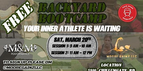 BACKYARD BOOTCAMP (SESSION 1) tickets