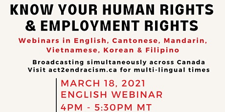 Know Your Human Rights & Employment Rights tickets