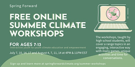 Free Online Climate Workshops tickets