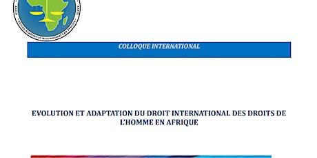 EVOLUTION ET ADAPTATION DU DROIT INTERNATIONAL DES DROITS DE L'HOMME EN AFR billets