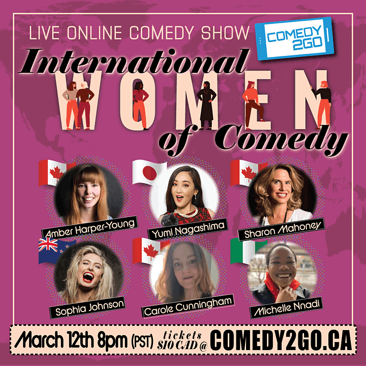 International Women of Stand-up Comedy - Live Online Show image