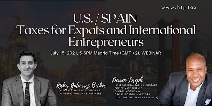 (WEBINAR) U.S./SPAIN TAXES FOR EXPATS  AND INTERNATIONAL ENTREPRENEURS image