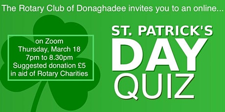 Rotary Club of Donaghadee: St. Patrick's Day Zoom Quiz tickets