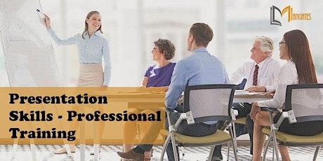 Presentation Skills-Professional 1Day Virtual Training in San Francisco, CA billets