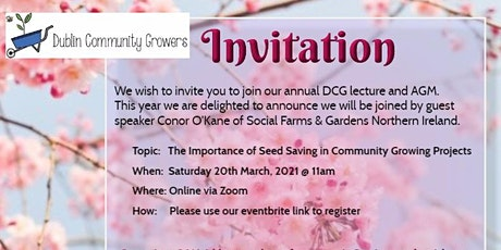 Dublin Community Growers Annual Lecture & AGM tickets
