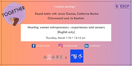 Roundtable Aware X StartMeUp: Meeting women entrepreneurs billets