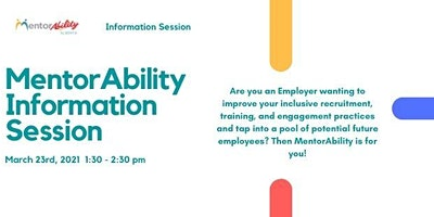 MentorAbility Alberta Information Session