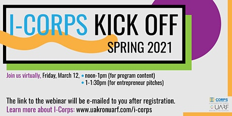 Spring 2021 I-Corps Kick-off tickets