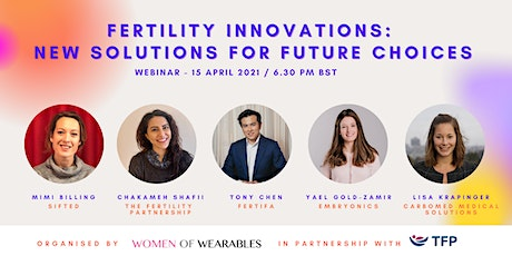 WEBINAR - Fertility Innovations: New Solutions for Future Choices tickets