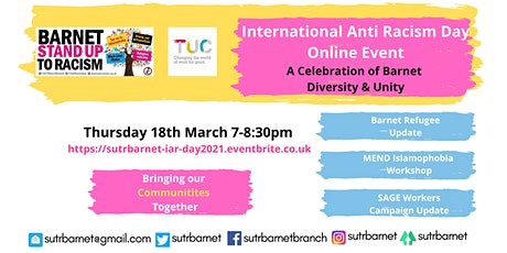 Barnet Stand Up To Racism International Anti Racism Day. tickets