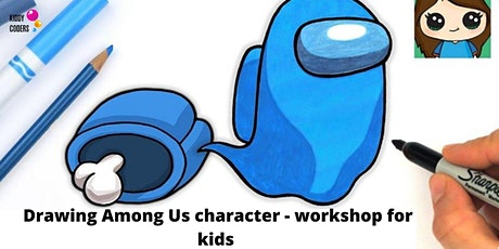Drawing Among Us character - workshop for kids tickets