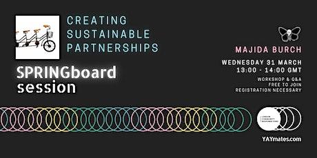 YAY mates SPRINGboard Creating Sustainable Partnerships tickets