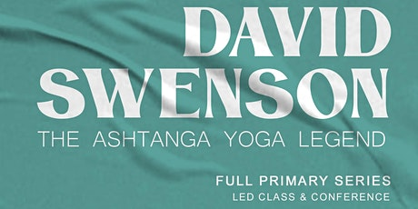 David Swenson - March 20th - Led Full Primary, Conference and Q&A tickets