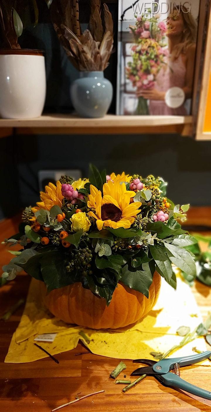 Halloween Flower Arrangement image