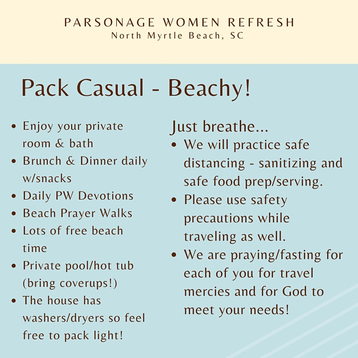 Parsonage Women Refresh #2 - October 27-30, 2021 image