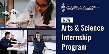 U of T Arts & Science Internship Program Information Session tickets