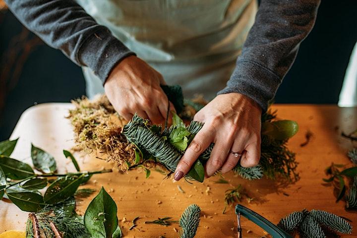 Wreath making with The Flower Hut Bristol image