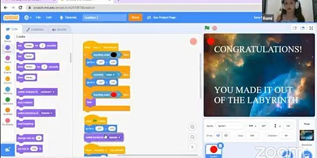 Prerecorded  Class: How to Make a Labyrinth in Scratch tickets