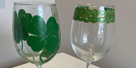 St. Patrick's Day BYOB Wine Glass Painting Class tickets