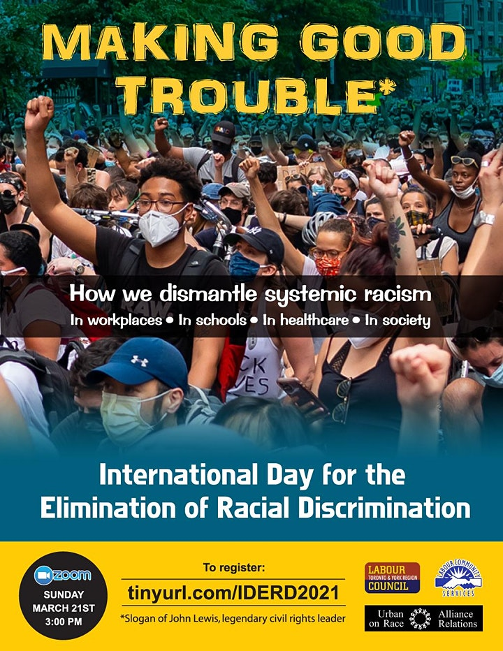 Making Good Trouble: International Day For The Elimination Of Racism 2021 image