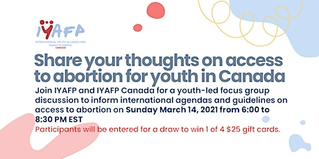 Youth Access to Abortion Focus Group Discussion tickets