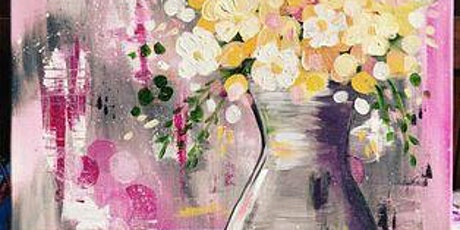 Paint Party - Silver Vase with Yellow Flowers tickets