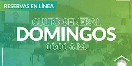 Culto Presencial Domingo / 14 Marzo / 10:00 am boletos