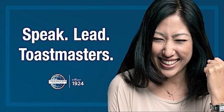 Speak. Lead. Toastmasters. tickets