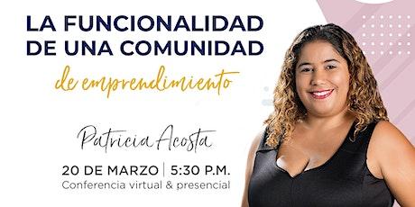 Conferencia (online) de Patricia Acosta en Emprende SDQ entradas