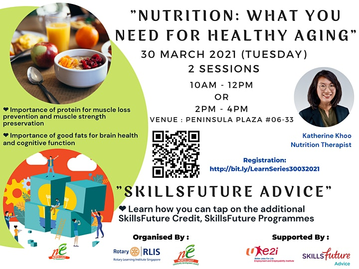 Learning Series  - Nutrition for Active Aging & SkillsFuture Advice image