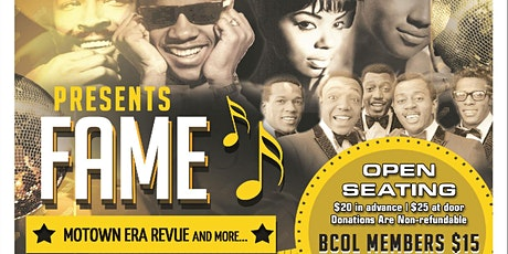 """Better Choice of Living Production Presents """"Fame"""" Motown Era Revue & More tickets"""