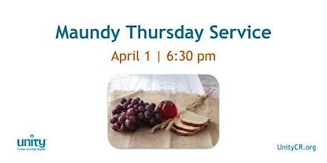Holy Thursday Service tickets